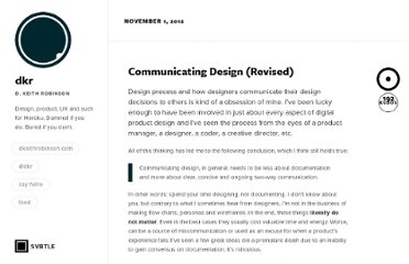 http://howtomakelightning.com/communicating-design