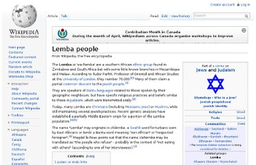 http://en.wikipedia.org/wiki/Lemba_people