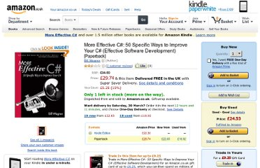 http://www.amazon.co.uk/More-Effective-Specific-Software-Development/dp/0321485890