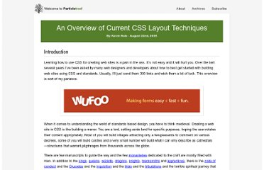 http://www.particletree.com/features/an-overview-of-current-css-layout-techniques/