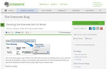 http://blog.evernote.com/blog/2010/03/16/emailing-into-evernote-just-got-better/