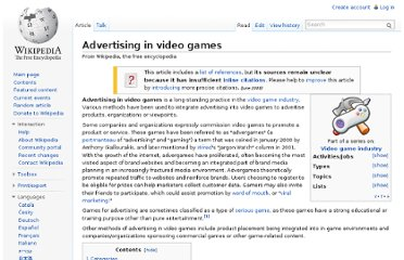 http://en.wikipedia.org/wiki/Advertising_in_video_games