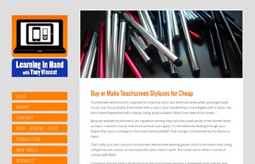 http://learninginhand.com/blog/2013/1/29/buy-or-make-touchscreen-styluses-for-cheap