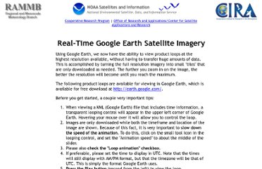 real time satellite images