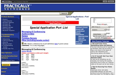 http://www.practicallynetworked.com/sharing/app_port_list.htm