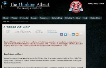 http://www.thethinkingatheist.com/blog/48/A-Coming-Out-Letter