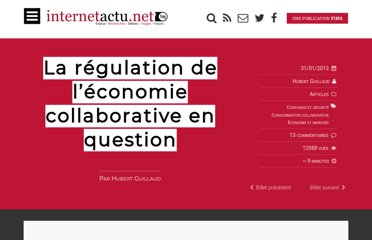 http://www.internetactu.net/2013/01/31/la-regulation-de-leconomie-collaborative-en-question/