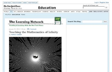 http://learning.blogs.nytimes.com/2013/01/30/teaching-the-mathematics-of-infinity/
