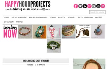 http://happyhourprojects.com/basic-sliding-knot-bracelet/