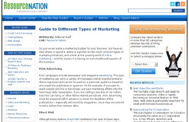 http://www.resourcenation.com/article/guide-different-types-marketing/