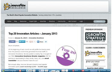 http://www.innovationexcellence.com/blog/2013/01/31/top-20-innovation-articles-january-2013/