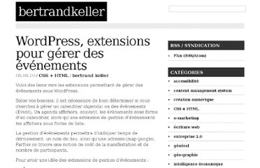 http://bertrandkeller.info/2010/09/06/2553-wordpress-extensions-pour-gerer-des-evenements/