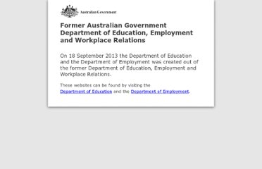 http://deewr.gov.au/fair-work-act-review