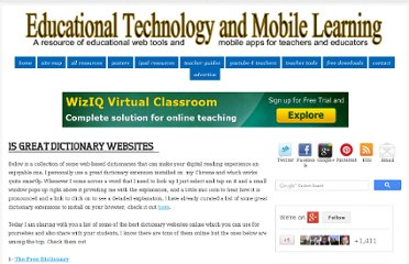 http://www.educatorstechnology.com/2013/01/15-great-dictionary-websites.html
