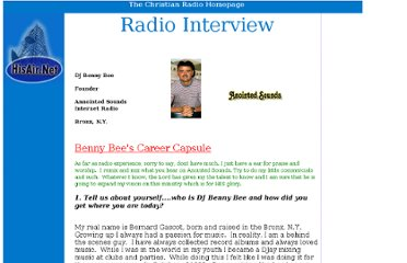 http://www.hisair.net/interviews/radio%20interview%20bennybee.htm
