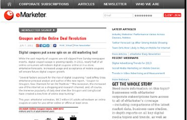 http://www.emarketer.com/Article/Groupon-Online-Deal-Revolution/1008427