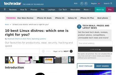 http://www.techradar.com/news/software/operating-systems/best-linux-distro-five-we-recommend-1090058