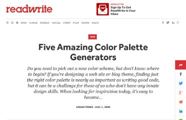 http://readwrite.com/2008/08/01/five_amazing_color_palette_generators