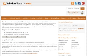 http://www.windowsecurity.com/pages/trojanscan.html
