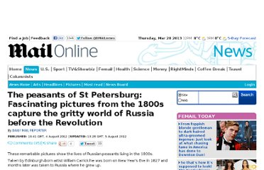 http://www.dailymail.co.uk/news/article-2183755/William-Carrick-Photographs-Russians-peasants-1800s.html