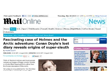 http://www.dailymail.co.uk/news/article-2183847/Sherlock-Holmes-Conan-Doyles-lost-diary-reveals-origins-super-sleuth.html