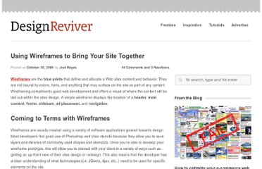 http://designreviver.com/tips/using-wireframes-to-bring-your-site-together/