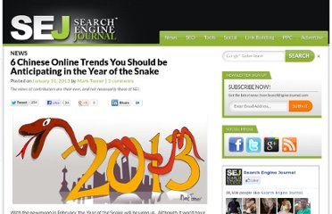 http://www.searchenginejournal.com/6-chinese-online-trends-you-should-be-anticipating-in-the-year-of-the-snake/57834/