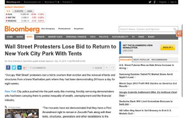 http://www.bloomberg.com/news/2011-11-15/-occupy-wall-street-protesters-lose-bid-to-return-to-lower-manhattan-park.html