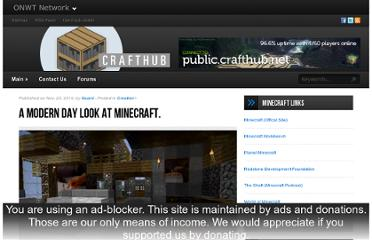 http://crafthub.net/blog/2010/11/23/a-modern-day-look-at-minecraft/