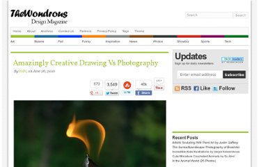 http://thewondrous.com/amazingly-creative-drawing-vs-photography/