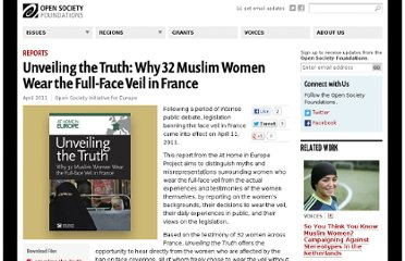 http://www.opensocietyfoundations.org/publications/unveiling-truth-why-32-muslim-women-wear-full-face-veil-france