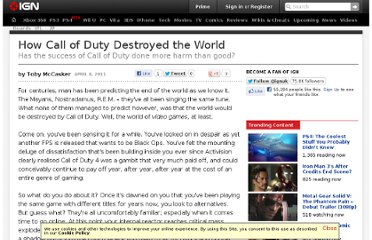 http://www.ign.com/articles/2011/04/08/how-call-of-duty-destroyed-the-world
