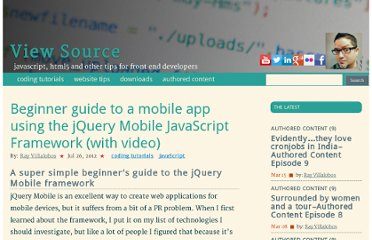 http://iviewsource.com/codingtutorials/5-minute-guide-to-a-mobile-app-with-jquery-mobile/