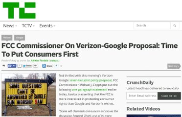 http://techcrunch.com/2010/08/09/fcc-comissioner-on-verizon-google-statement-time-to-put-consumers-first/