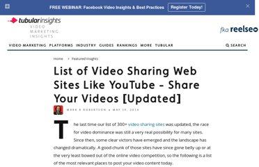 http://www.reelseo.com/list-video-sharing-websites/