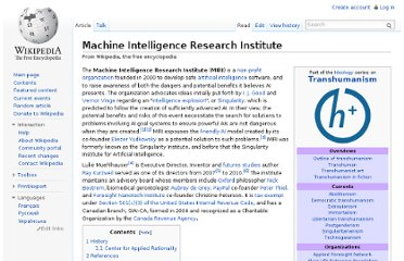 http://en.wikipedia.org/wiki/Machine_Intelligence_Research_Institute