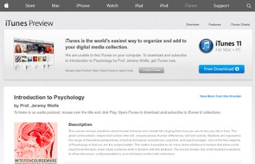 https://itunes.apple.com/us/itunes-u/introduction-to-psychology/id341596834