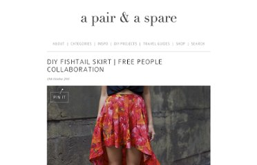 http://apairandasparediy.com/2011/10/diy-fishtail-skirt-free-people-collaboration.html