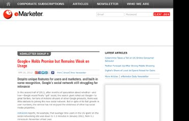 http://www.emarketer.com/Article/Google-Holds-Promise-Remains-Weak-on-Usage/1008976