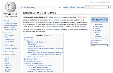 http://fr.wikipedia.org/wiki/Universal_Plug_and_Play