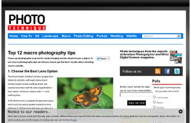 http://www.phototechnique.com/macro/top-12-macro-photography-tips/