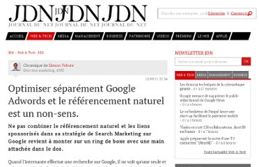 http://www.journaldunet.com/solutions/expert/50150/optimiser-separement-google-adwords-et-le-referencement-naturel-est-un-non-sens.shtml