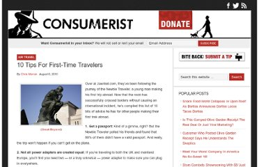 http://consumerist.com/2010/08/06/10-tips-for-first-time-travelers/