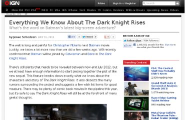 http://www.ign.com/articles/2011/07/12/everything-we-know-about-the-dark-knight-rises