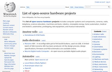 http://en.wikipedia.org/wiki/List_of_open-source_hardware_projects
