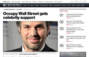 http://www.cbsnews.com/8301-31749_162-20117347-10391698/occupy-wall-street-gets-celebrity-support/
