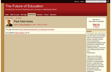 http://www.futureofeducation.com/notes/Past_Interviews