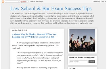 http://lawschoolsuccesstips.blogspot.com/2012/04/great-way-to-market-yourself-if-you-are.html