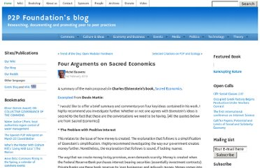 http://blog.p2pfoundation.net/four-arguments-on-sacred-economics/2013/02/01