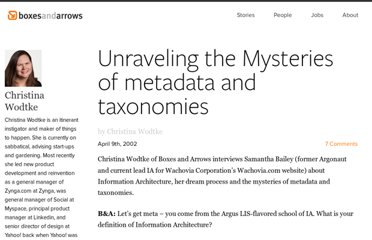http://boxesandarrows.com/unraveling-the-mysteries-of-metadata-and-taxonomies/